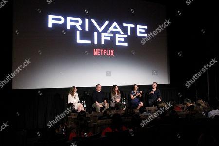 Kayli Carter, Paul Giamatti, Kathryn Hahn, Tamara Jenkins (Director), Jim Taylor(Moderator)