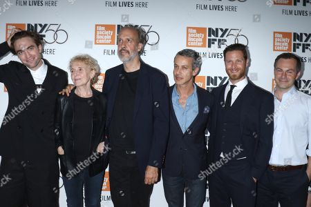 Stock Picture of Robert Pattinson, Claire Denis, director, Kent Jones, Andrew Lauren, producer, DJ Guggenheim, producer and Oliver Dungey, producer