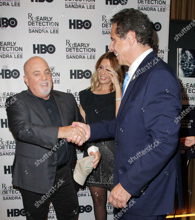 Billy Joel, Alexis Roderick and Andrew Cuomo