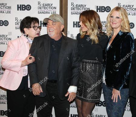 Kathy Bates, Billy Joel, Alexis Roderick and Sandra Lee