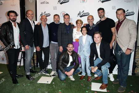 Stock Picture of Jonathan Rosenthal, Ben Cornwell, Johm Hyams, Andrew Sikking, Yeardley Smith, Jesse Ray Sheps, Michael Kelly, Brett Davis, Nick Smith
