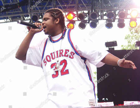 Wish Bone of Bone Thugs N Harmony Performs During Music Midtown On May 4 2002