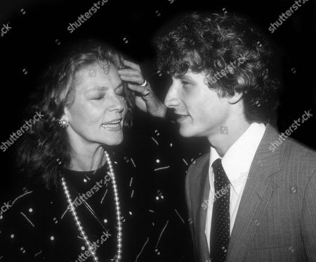 Lauren Bacall with son Sam Robards