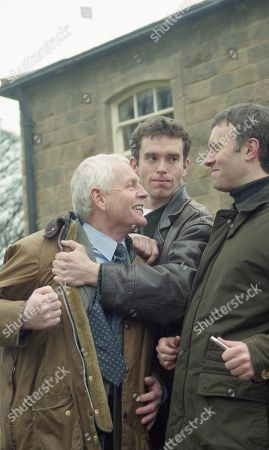 Ep 2653 Thursday 17th February 2000 Eric and Marlon threaten Graham - they will make him pay for his crimes - With Eric Pollard, as played by Christopher Chitttell; Marlon Dingle, as played by Mark Charnock ; Graham Clark, as played by Kevin Pallister.