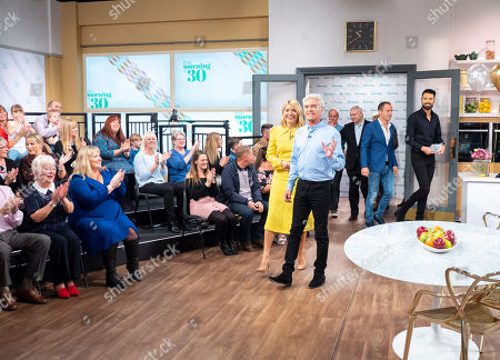 Phillip Schofield, Holly Willoughby, Rylan Clark, Eamonn Holmes, Ruth Langsford, Martin Lewis and Phil Vickery