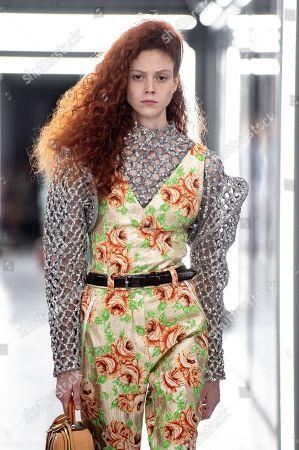 Natalie Westling on the catwalk