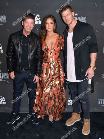Rob Liefeld, Minka Kelly and Alan Ritchson