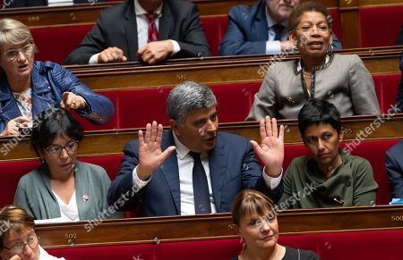 Christine Pires Beaume, David Habib and Ericka Bareigts during the weekly session of questions to the government at the National Assembly