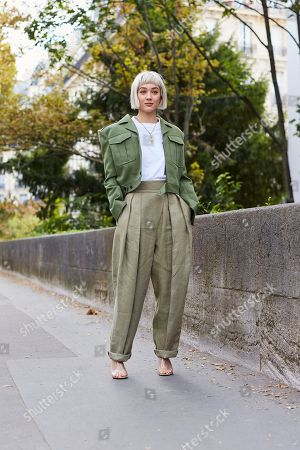 Editorial image of Street style Spring Summer 2019 Paris Fashion Week France - 01 Oct 2018