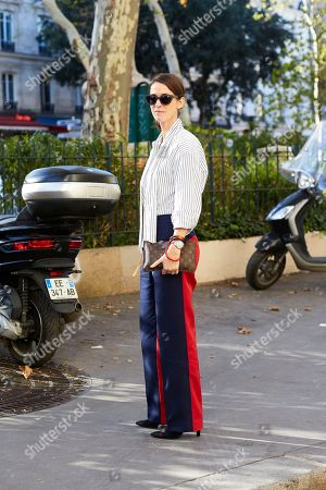 Editorial photo of Street style Spring Summer 2019 Paris Fashion Week France - 01 Oct 2018