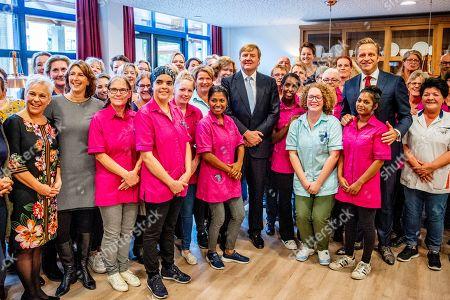 King Willemalexander Visit Saint Elizabeth Nursing Gasthuis Stock