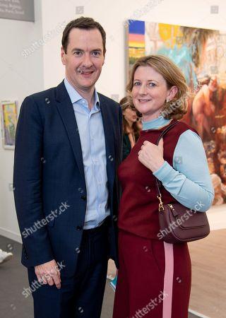 Stock Picture of George Osborne and Frances Osborne