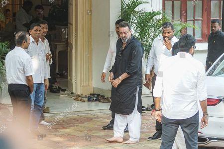Bollywood actor Sanjay Dutt during Krishna Raj Kapoor funeral at Chembur