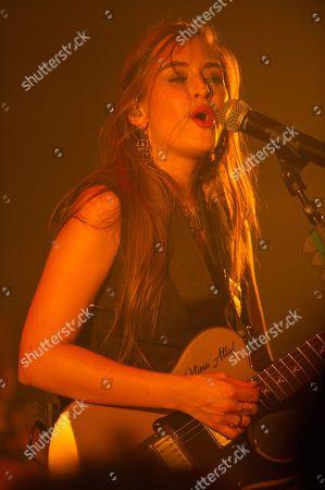 Editorial image of Nina Attal in concert at the Cafe de la Danse, Paris, France - 02 Oct 2018