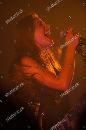 Editorial photo of Nina Attal in concert at the Cafe de la Danse, Paris, France - 02 Oct 2018