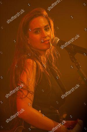 Editorial picture of Nina Attal in concert at the Cafe de la Danse, Paris, France - 02 Oct 2018