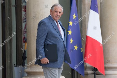 Stock Picture of French Territorial and Cohesion Minister Jacques Mezard leaves after the weekly cabinet meeting at Elysee Palace.