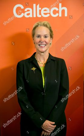 Nobel chemistry winner Frances Arnold poses for a photo at California Institute of Technology in Pasadena, Calif