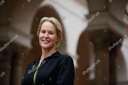 Nobel chemistry winner Frances Arnold poses for a photo at California Institute of Technology in Pasadena, Calif., . Arnold of Caltech was awarded half of the 9-million-kronor ($1.01 million) prize, while the other half was shared by George Smith of the University of Missouri and Gregory Winter of the MRC molecular biology lab in Cambridge, England. Arnold is only the fifth woman to win a chemistry Nobel since the prizes began in 1901