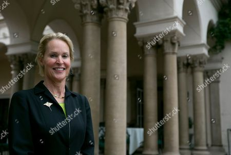 Nobel chemistry winner Frances Arnold poses for a photo at California Institute of Technology in Pasadena, Calif., . Arnold of the Caltech was awarded half of the 9-million-kronor ($1.01 million) prize, while the other half was shared by George Smith of the University of Missouri and Gregory Winter of the MRC molecular biology lab in Cambridge, England. Arnold is only the fifth woman to win a chemistry Nobel since the prizes began in 1901