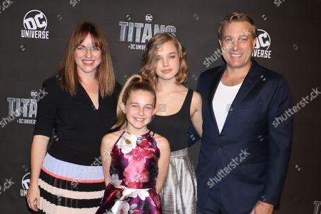 Rebecca McNamee Croft, Sage Croft, Teagan Croft and Tim Croft