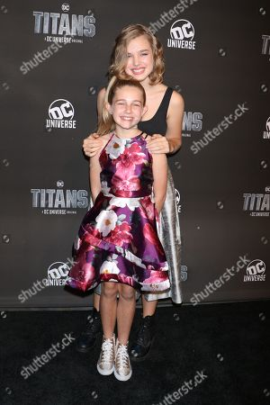 Teagan Croft with sister Sage Croft
