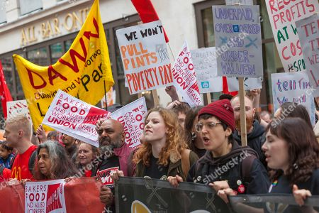 Fast food workers strike London Stock Photos (Exclusive)   Shutterstock