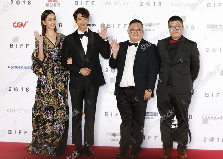 Taiwanese actress acd model Annie Chen (L) and Taiwanese actor and model Liu Yi-Hao (2-L) arrive for the opening ceremony of the 23rd Busan International Film Festival (BIFF), in Busan, South Korea 04 October 2018. The BIFF will screen 323 movies from 79 countries and runs from 04 to 13 October.