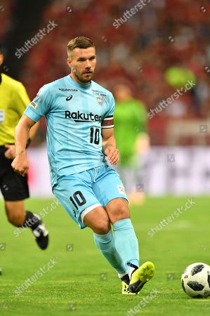 Lukas Podolski (Vissel) - Football / Soccer : 2018 J1 League match between Urawa Red Diamonds 4-0 Vissel Kobe at Saitama Stadium 2002 in Saitama, Japan.