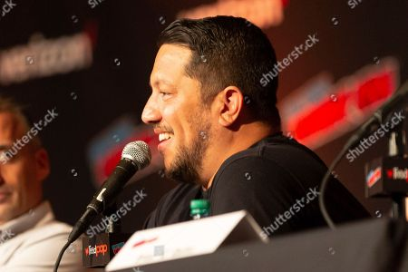 """Sal Vulcano speaks on stage at the """"Impractical Jokers"""" panel during the first day of New York Comic Con"""