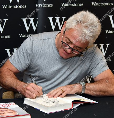 Kevin Keegan, former England / Newcastle footballer and manager signs copies of his autobiography, My Life in Football, at Waterstones Leadenhall Market