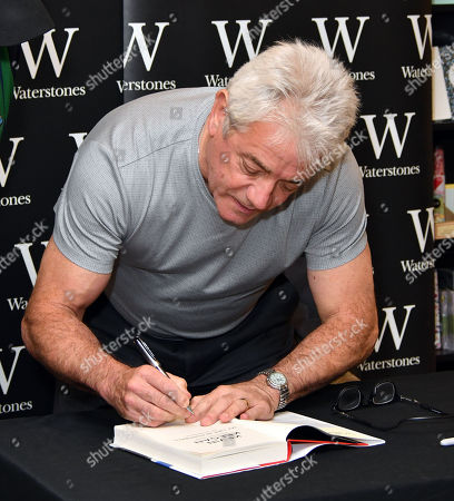 Stock Photo of Kevin Keegan, former England / Newcastle footballer and manager signs copies of his autobiography, My Life in Football, at Waterstones Leadenhall Market