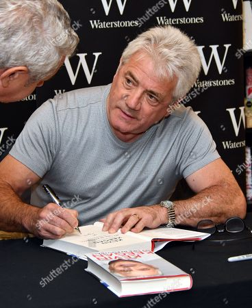 Stock Picture of Kevin Keegan, former England / Newcastle footballer and manager signs copies of his autobiography, My Life in Football, at Waterstones Leadenhall Market