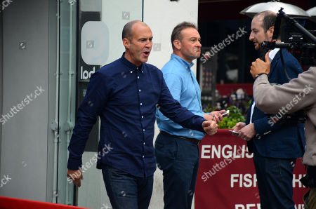 Stock Picture of Johnny Vaughan filming outside Global studios