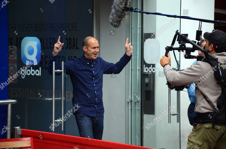 Editorial image of Johnny Vaughan out and about, London, UK - 04 Oct 2018