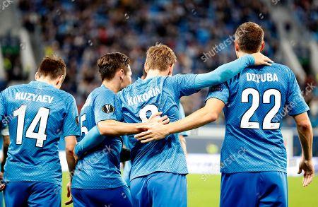 Editorial image of FC Zenit St. Petersburg vs SK Slavia Prague, Russian Federation - 04 Oct 2018