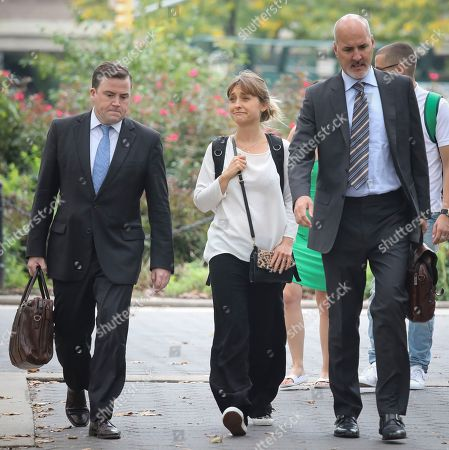 "Mack, Allison Mack. Actress Allison Mack, center, arrives with her legal team to Brooklyn Federal Court, in New York. Mack is among defendants from the self-help group NXIVM, charged with coercing women to be a part of a secret sub-group where they were expected to act as ""slaves"" and engage in sex acts"
