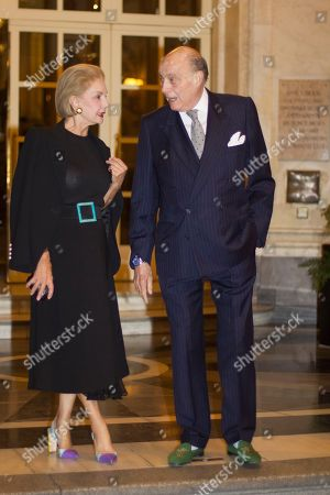 Editorial image of Carolina Herrera out and about, Madrid, Spain - 01 Oct 2018