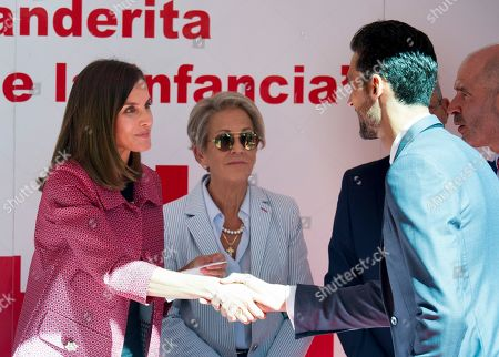 Queen Letizia and Alvaro Arbeloa Coca