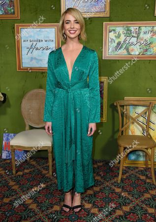 """Ashleigh Brewer arrives at the Los Angeles premiere of """"My Dinner with Herve"""", at Paramount Studios"""