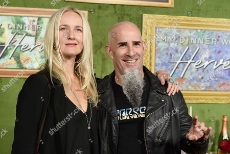 """Pearl Aday, Scott Ian. Pearl Aday, left, and Scott Ian arrive at the Los Angeles premiere of """"My Dinner with Herve"""", at Paramount Studios"""