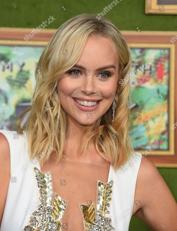 "Helena Mattsson arrives at the Los Angeles premiere of ""My Dinner with Herve"", at Paramount Studios"