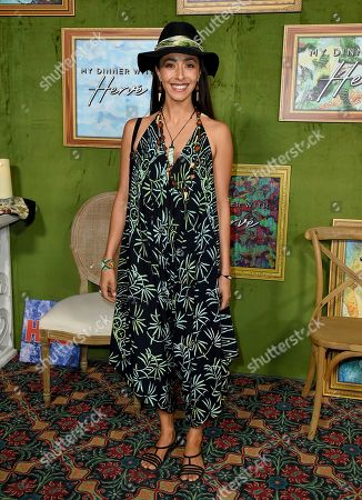 """Oona Chaplin arrives at the Los Angeles premiere of """"My Dinner with Herve"""", at Paramount Studios"""