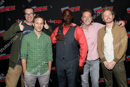 "Matt Senreich, Breckin Meyer, Gary Anthony Williams, Bryan Cranston, Zeb Wells. Matt Senreich, Breckin Meyer, Gary Anthony Williams, Bryan Cranston and Zeb Wells attend New York Comic Con for Sony Crackle ""SuperMansion"" panel on"