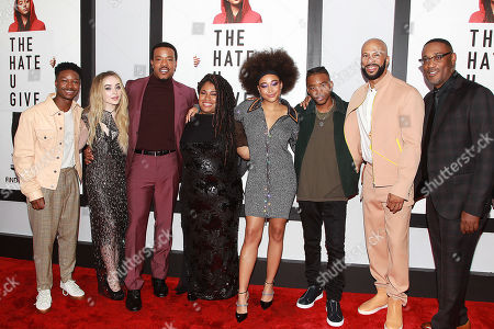 Stock Photo of Lamar Johnson, Sabrina Carpenter, Russell Hornsby, Amandla Stenberg, Algee Smith, Common and George Tillman Jr.