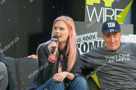 Stock Picture of Janet Varney and John C. McGinley