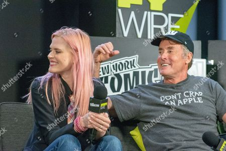 Stock Photo of Janet Varney and John C. McGinley