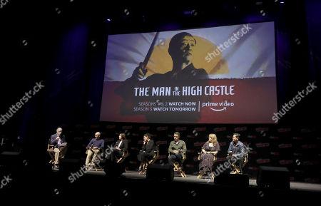 Executive Producer David Zucker, Isa Dick Hackett, Alexa Davalos, Rufus Sewell, Chelah Horsdal, and Joel De La Fuente