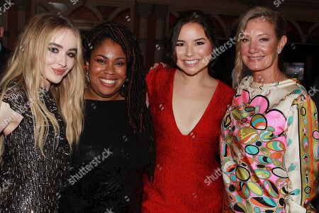 Sabrina Carpenter, Angie Thomas, Megan Lawless and Elizabeth Gabler