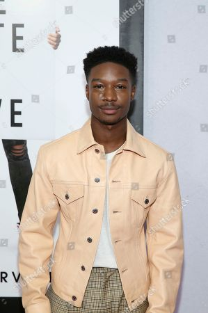 """Lamar Johnson attends a special screening of """"The Hate U Give"""" at The Paris Theater, in New York"""